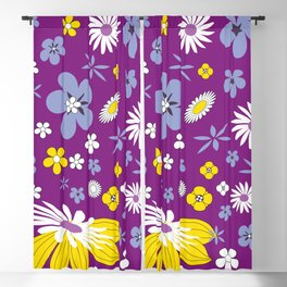 Floral background Blackout Curtain