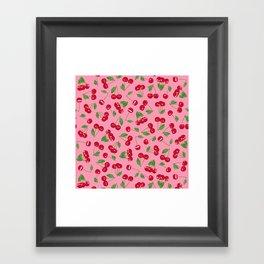 Very cerise - Pinkhttp://society6.com/product/very-cerise-white_mug#27=199 Framed Art Print