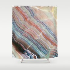 Pastel Onyx Marble Shower Curtain