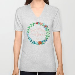 Do you suppose she's a wildflower? Unisex V-Neck