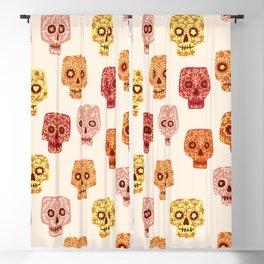 Dia de los Muertos Mexican Decorated Skull Art Blackout Curtain