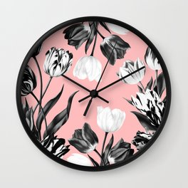 Bed Of Tulips Wall Clock
