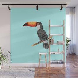 Hornbill Bird - Blue Wall Mural