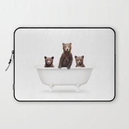 3 Little Bears in a Vintage Bathtub (c) Laptop Sleeve