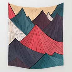 Vintage Mounts Wall Tapestry
