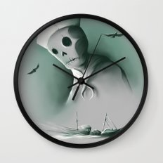 Wreckage of the past Wall Clock
