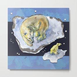 Great bear family -  Ursa Major constellation Metal Print