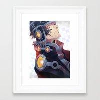 dramatical murder Framed Art Prints featuring DRAMAtical Murder: Ren by magemg