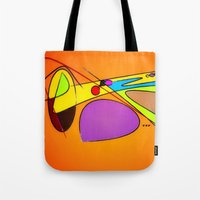 trumpet Tote Bags featuring Trumpet by TNP Scribble