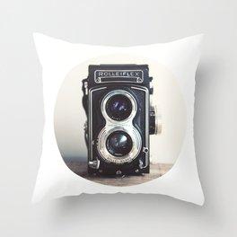 ROLLEIFLEX CAMERA Throw Pillow