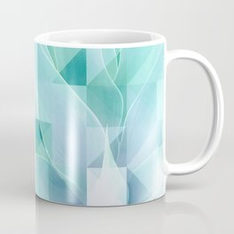 Soft Geo Agave - Aqua and blue Coffee Mug