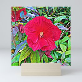 Scarlet Flower Breaking Free Mini Art Print