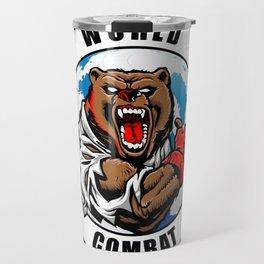 MMA fighter bear Travel Mug