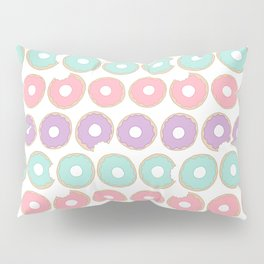 Donuts - Colorful Doodle Pattern Pillow Sham