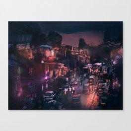 Grills, Smokes, and Lights Canvas Print