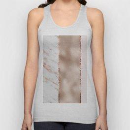 Rose metallic striping - marble and blush Unisex Tank Top