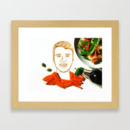 JB Stir Fry Vegetable Framed Art Print