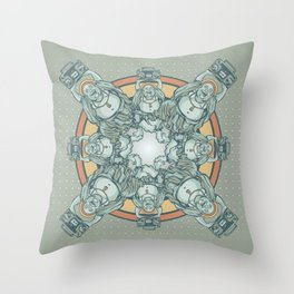 Buddha Beats Throw Pillow
