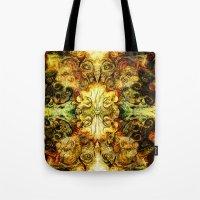fibonacci Tote Bags featuring Fibonacci 3 by Aleks7