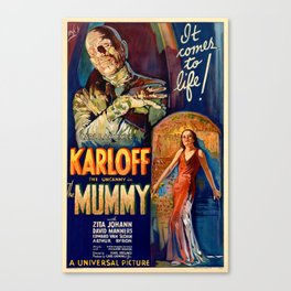 The Mummy vintage movie poster Canvas Print