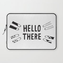 """""""Hello There"""" Cat Paws Laptop Sleeve"""
