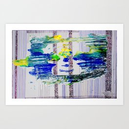 Amongst the Lines,Columns and Space Art Print