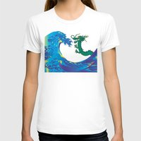 hokusai T-shirts featuring Hokusai Rainbow & Dragon by FACTORIE