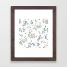 Hummingbird's Garden: Spring time Framed Art Print