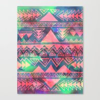 techno Canvas Prints featuring Techno Native by Schatzi Brown