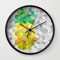 himym Wall Clocks featuring Pineapple! by tracingtrace