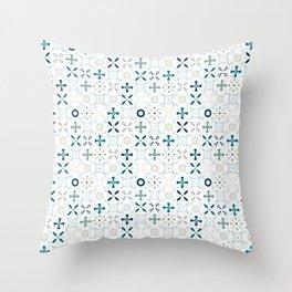Mandala Tiles Throw Pillow