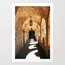 Castle Corridor - 35mm film Art Print