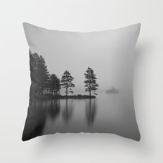 Loch Eilein Morning Throw Pillow