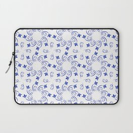 Floral round wreaths of blue color Laptop Sleeve