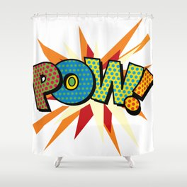 Comic Book Pop Art Sans POW! Shower Curtain