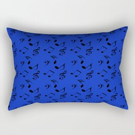 royal blue music Rectangular Pillow