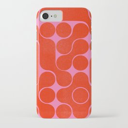 Abstract mid-century shapes no 6 iPhone Case