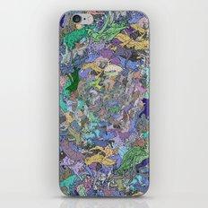 Neon Cats Blue Moon Sea Twilight iPhone & iPod Skin