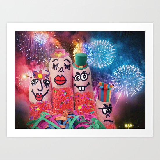 Happy Holidays! Art Print