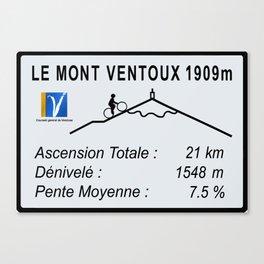 Mont Ventoux Sign Canvas Print