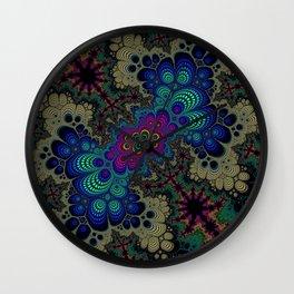 Peacock Fractal Wall Clock