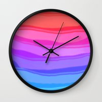 wave Wall Clocks featuring Wave by Baris erdem