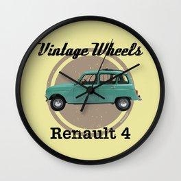 Vintage Wheels - Renault 4 Wall Clock