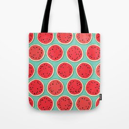watermelon polka mint Tote Bag