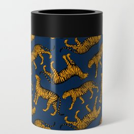 Tigers (Navy Blue and Marigold) Can Cooler