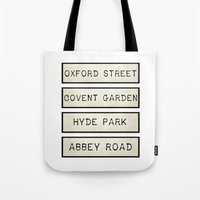 calendars Tote Bags featuring London by Shabby Studios Design & Illustrations ..