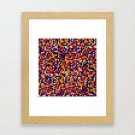 Knitted multicolor pattern 1 Framed Art Print