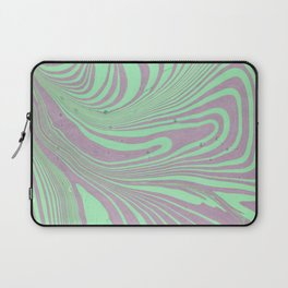 Violet mint green abstract watercolor marble Laptop Sleeve