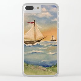 Sunset Cove Clear iPhone Case