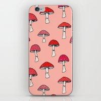 mushroom iPhone & iPod Skins featuring Mushroom by Abby Galloway